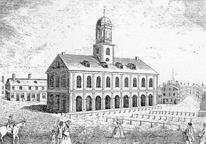 Faneuil Hall in 1740