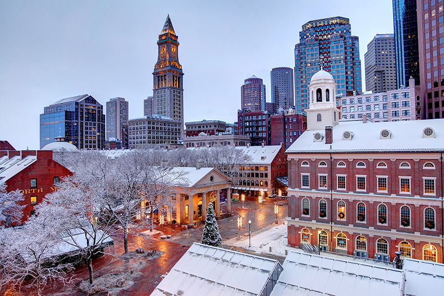 Winter season in Boston