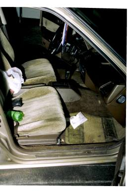 Adnan's Car, First Search, Interior, Front, Glove, Envelope